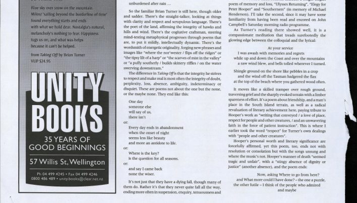 Advertisement, New Zealand Books, August 2002