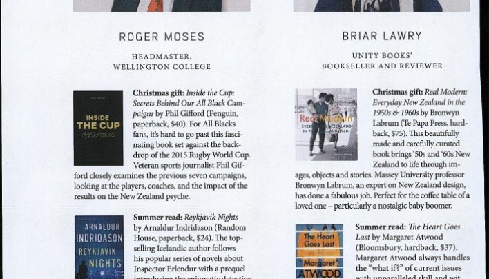 Briar Lawry's Christmas picks, Capital Magazine, October 2015