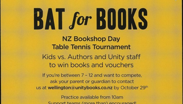 NZ Bookshop Day, 31st October 2015