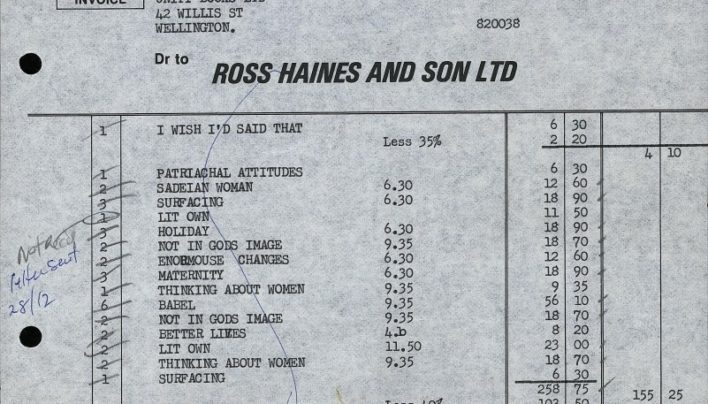 Ross Haines & Son Ltd order, 17th December 1979