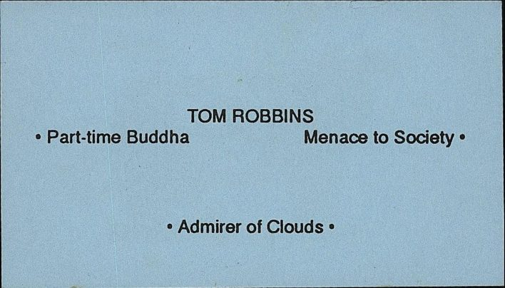 Tom Robbins events, 6th October 1995