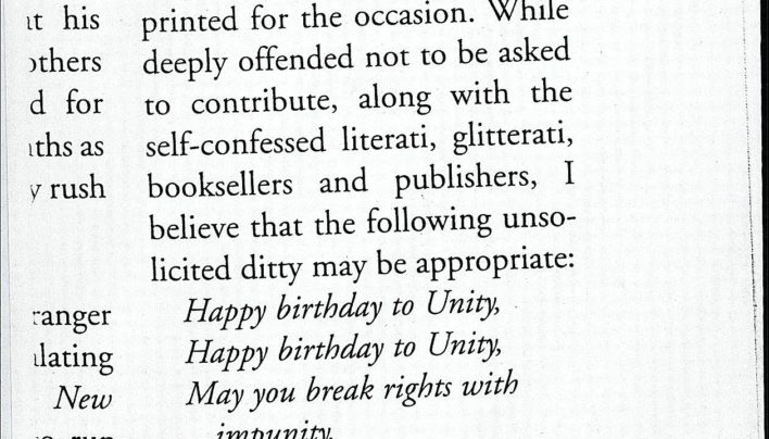 Beverley Baskerville on Unity's 30th Birthday