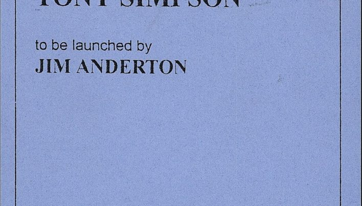 Tony Simpson launch, 11th March 1997