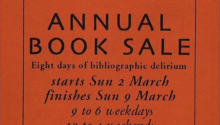 Book Sale, 2nd-9th March 1997