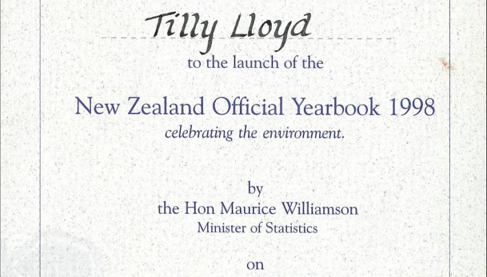 New Zealand Official Yearbook 1998 launch, 8th June 1998