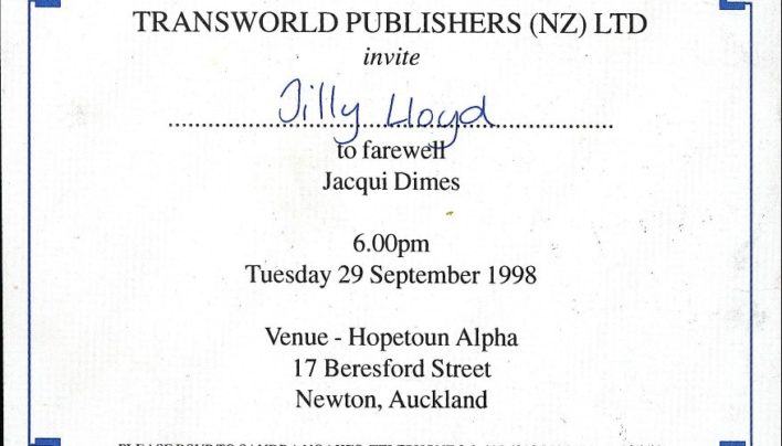 Jacqui Dimes farewell, 29th September 1998
