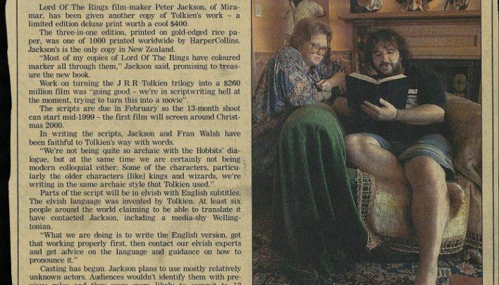 """I'll treasure this copy – Jackson"", The Evening Post, 1998"