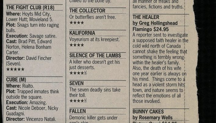 Sunday Fives book reviews, 27th November 1999