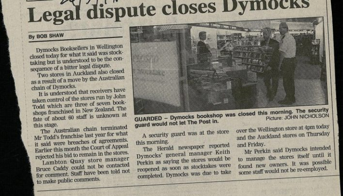 Dymocks dramas, May 1999