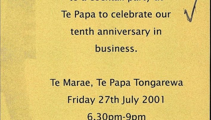 Huia (NZ) Ltd Tenth Anniversary, 27th July 2001