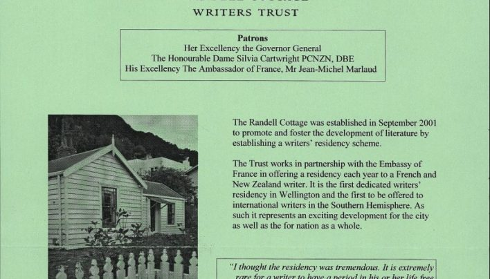 Randell Cottage Writers Trust, 2001
