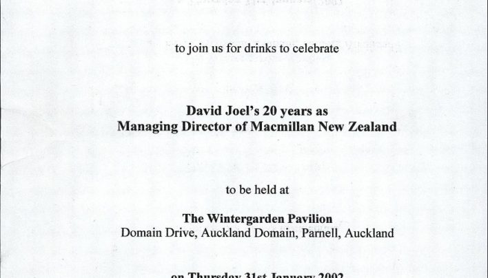 David Joel's 20th anniversary, 31st January 2002