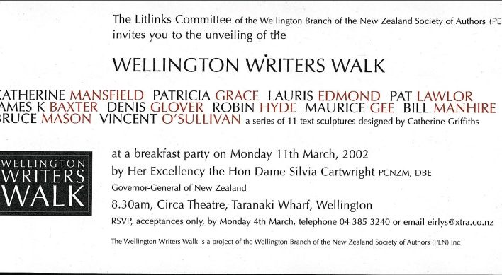 Writers Walk, 11th March 2002