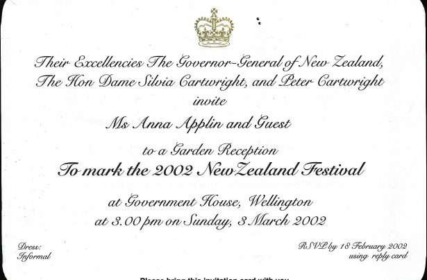 NZ Festival launch, 3rd March 2002