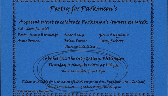 Poetry for Parkinson's event, 11th November 2004