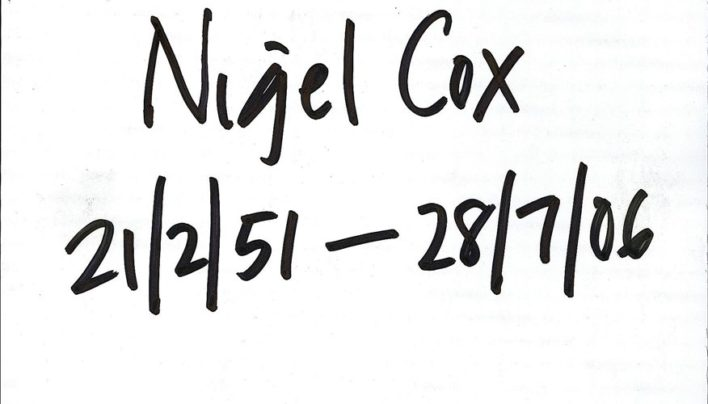 Death of Nigel Cox, 28th July 2006