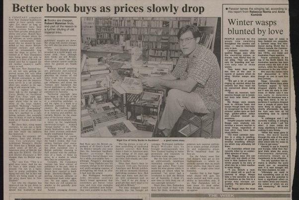 """Better book buys as prices slowly drop"", Sunday Times, 16th May 1993"