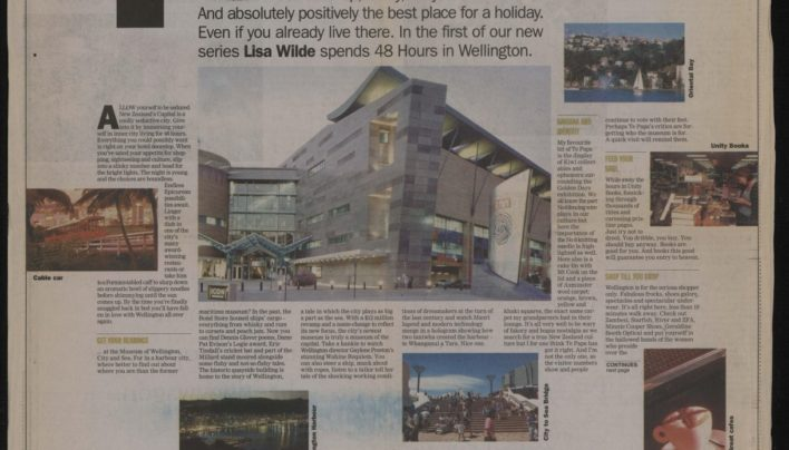 """48 Hours in Wellington"", The Evening Post, 15th May 2000"