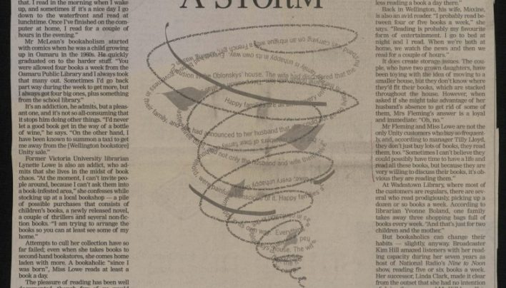 """Reading Up A Storm"", Dominion Post, 11th October 2003"