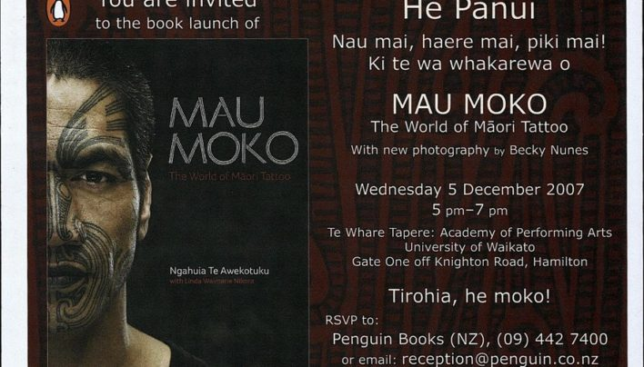 Mau Moko launch, 5th December 2007