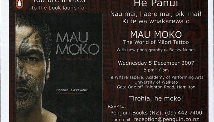 Mau Moko launch, 5th December 2007