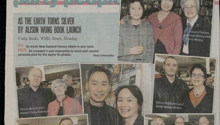 Alison Wong launch, Sunday Star-Times, 12th July 2009