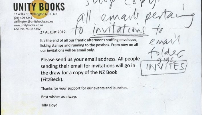 No more individual paper invitations, 27th August 2012