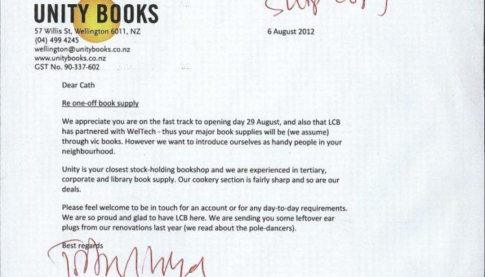 Letter to Le Cordon Bleu, 6th August 2012