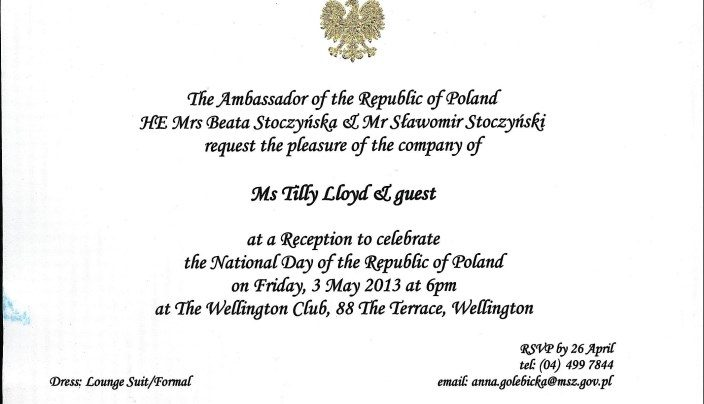 National Day of the Republic of Poland, 3rd May 2013