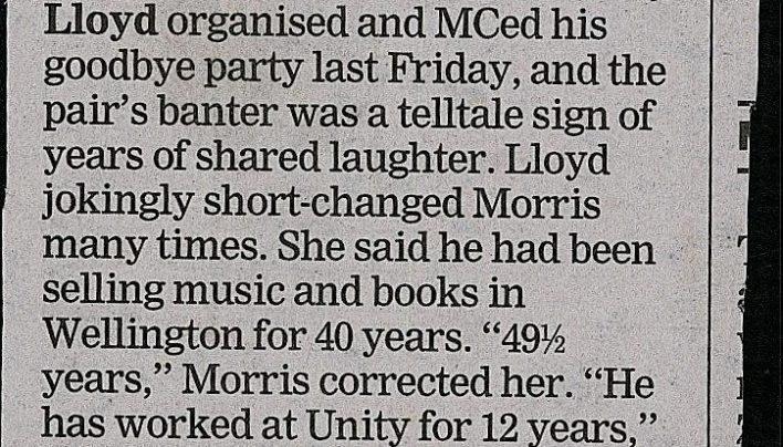 Colin Morris retires, 10th December 2015