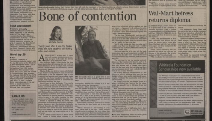 """Bone of Contention"", Dominion Post, 25th October 2005"