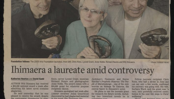 Arts Foundation Laureates, Dominion Post, 18th November 2009