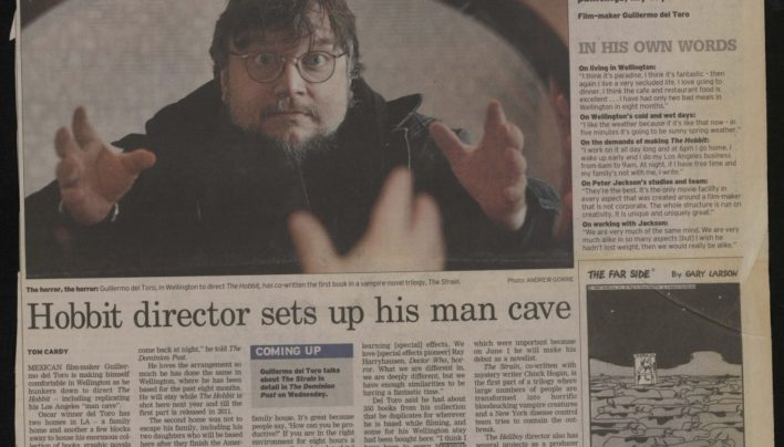 Guillermo del Toro article, The Dominion Post, 2009