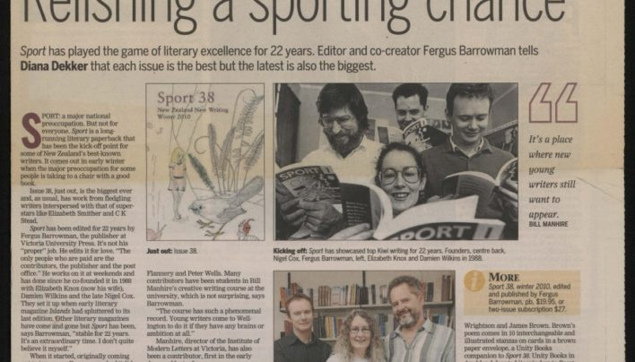 22 years of Sport magazine, The Dominion Post, 15th May 2010