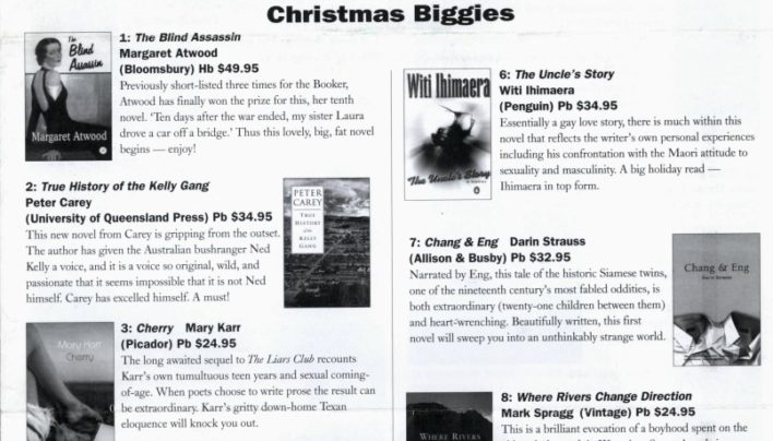 Summer Catalogue, December 2000