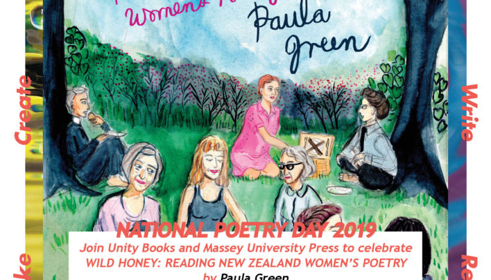 National Poetry Day | Wild Honey: Reading New Zealand Women's Poetry | 12-1pm Friday 23rd August